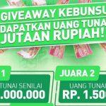 Giveaway Kebunsu Berhadiah Uang Tunai Total Rp 4,5 JUTA Rupiah