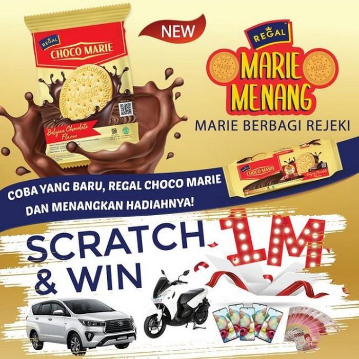 Gosok Kupon Regal Choco Marie Berhadiah Mobil, Motor, Smartphone