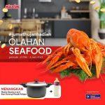 Lomba Kreasi Olahan Seafood Berhadiah Maxim QUATRO 6 L