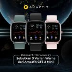Amazing Giveaway Instagram Berhadiah Amazfit GTS 2 Mini Gratis
