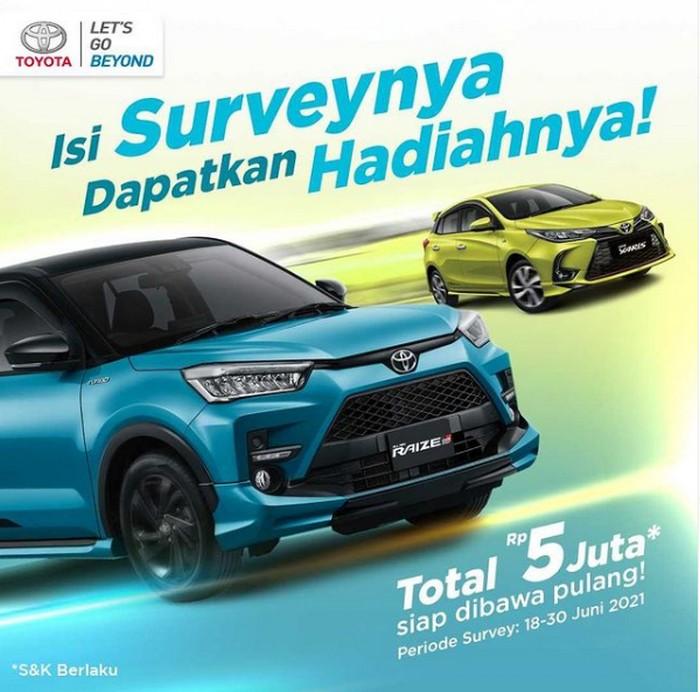 Isi Survey Toyota Berhadiah Pulsa Total 5 Juta Untuk 50 Pemenang