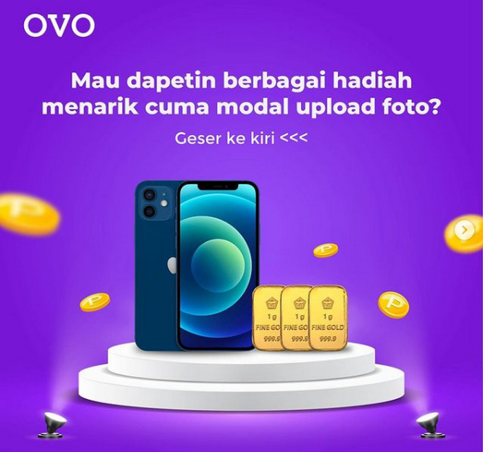 Kontes Foto Banner OVO Cashback Attack Berhadiah iPhone 12 & Emas