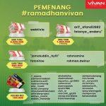 Pemenang Uang Dalam Promo Review Produk Vivan Ramadhan 2021