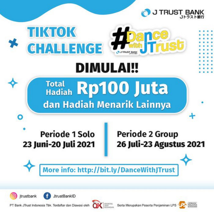 TikTok Challenge Dance With J Trust Total Hadiah Rp 100 Juta