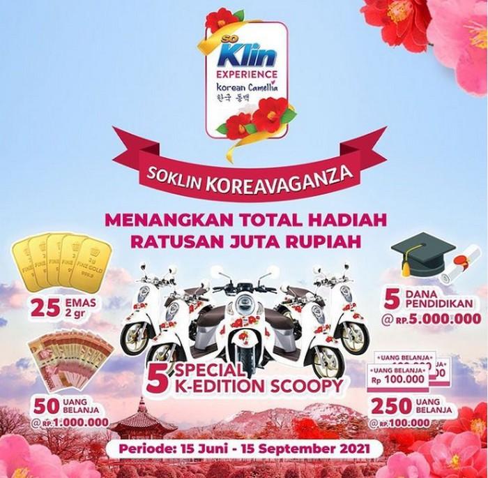 Undian SoKlin Koreavaganza Berhadiah 5 unit Motor K-Edition Scoopy