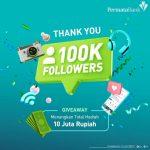 Giveaway 100K Followers Permata Bank Total Hadiah Saldo 10 Juta