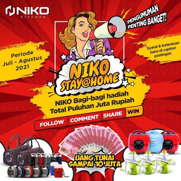 Giveaway Niko Stay@Home Berhadiah Puluhan Juta Untuk 50 Pemenang