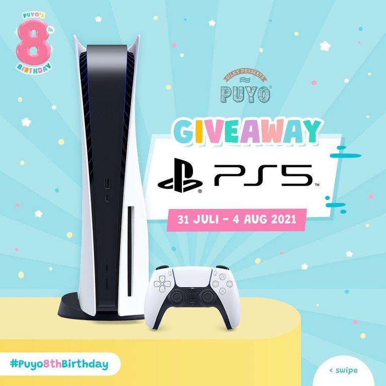 Giveaway Puyo 8th Birthday Berhadiah SONY Playstation 5