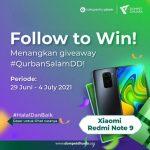 Kuis Follow to Win Qurban Salam DD Berhadiah Xiaomi Redmi Note 9