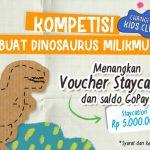 Lomba Buat Dinosaurus Berhadiah Voucher Staycation & Gopay Jutaan