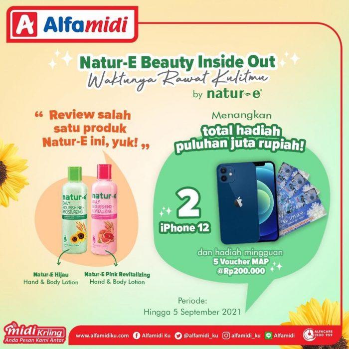Lomba Review Natur-E Alfamidi Berhadiah 2 iPhone 12 & Voucher MAP
