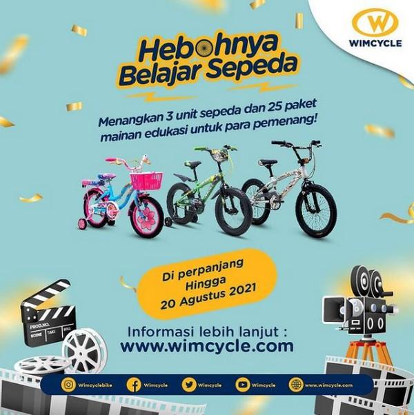 Lomba Video Hebohnya Belajar Sepeda Berhadiah 3 Sepeda & 25 Mainan