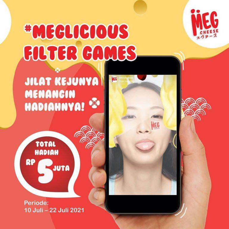 Main Game IG Filter Meglicious Total Hadiah 5 Juta Untuk 10 Pemenang
