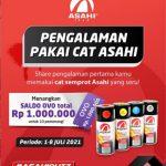 Share Pengalaman Pakai Cat Asahi Berhadiah Saldo OVO Total Rp. 1 Juta