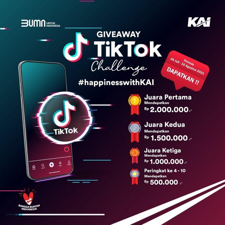 TikTok Challenge Happiness With KAI Hadiah Total 7 Juta Rupiah