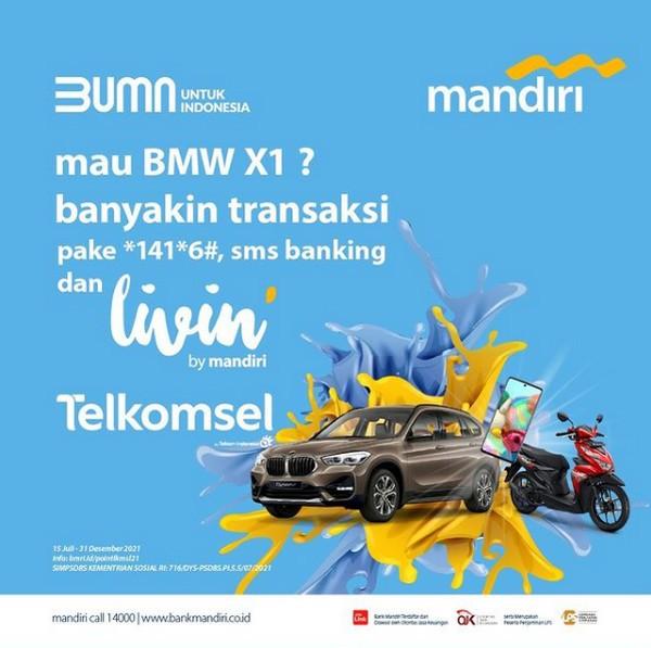 Undian Transaksi Livin' Mandiri Berhadiah Mobil Mewah BMW X1