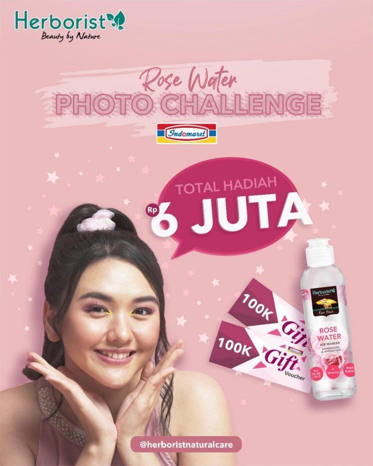 Herborist Rose Water Photo Challenge Total Hadiah 6 Juta Rupiah