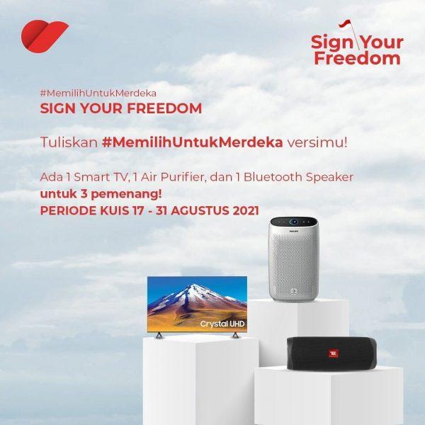 Kuis IG Story Memilih Untuk Merdeka Berhadiah Smart TV, Air Purifier, dll