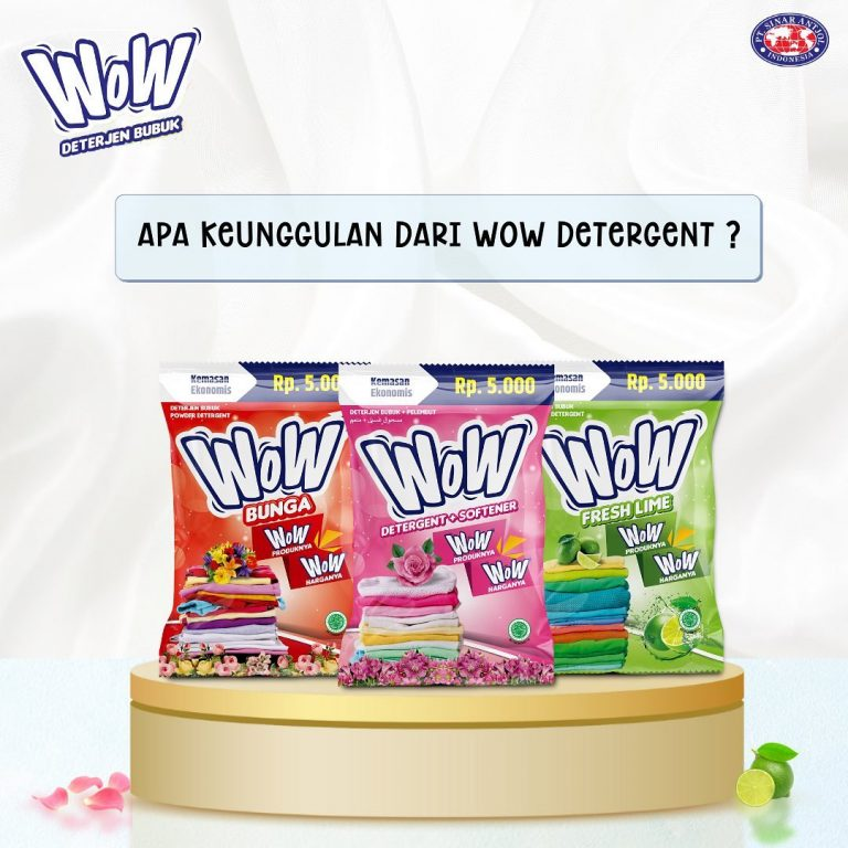 Kuis Keunggulan WoW Detergent Berhadiah Vacuum Cleaner, Juicer, Pan, dll