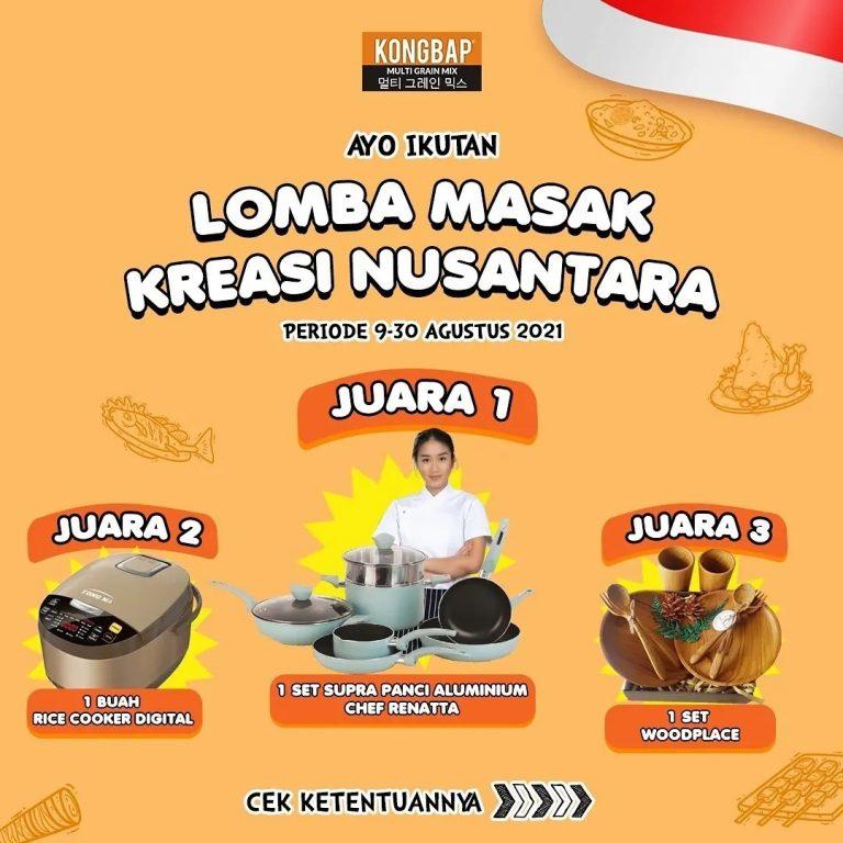 Lomba Masak Kreasi Nusantara Berhadiah Set Alat Masak, Rice Cooker, dll