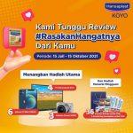 Lomba Review Hansaplast Koyo Hadiahnya 6 iPhone 12 Mini, TV, Kamera, dll