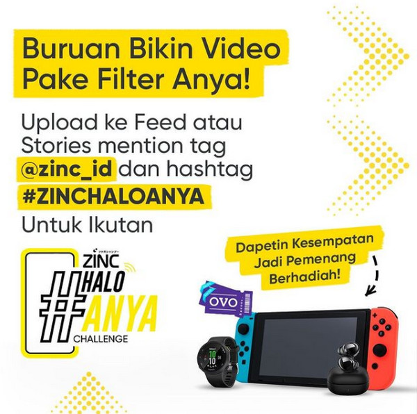Lomba Video Filter Halo Anya Berhadiah Nintendo Switch, Smartwatch, dll