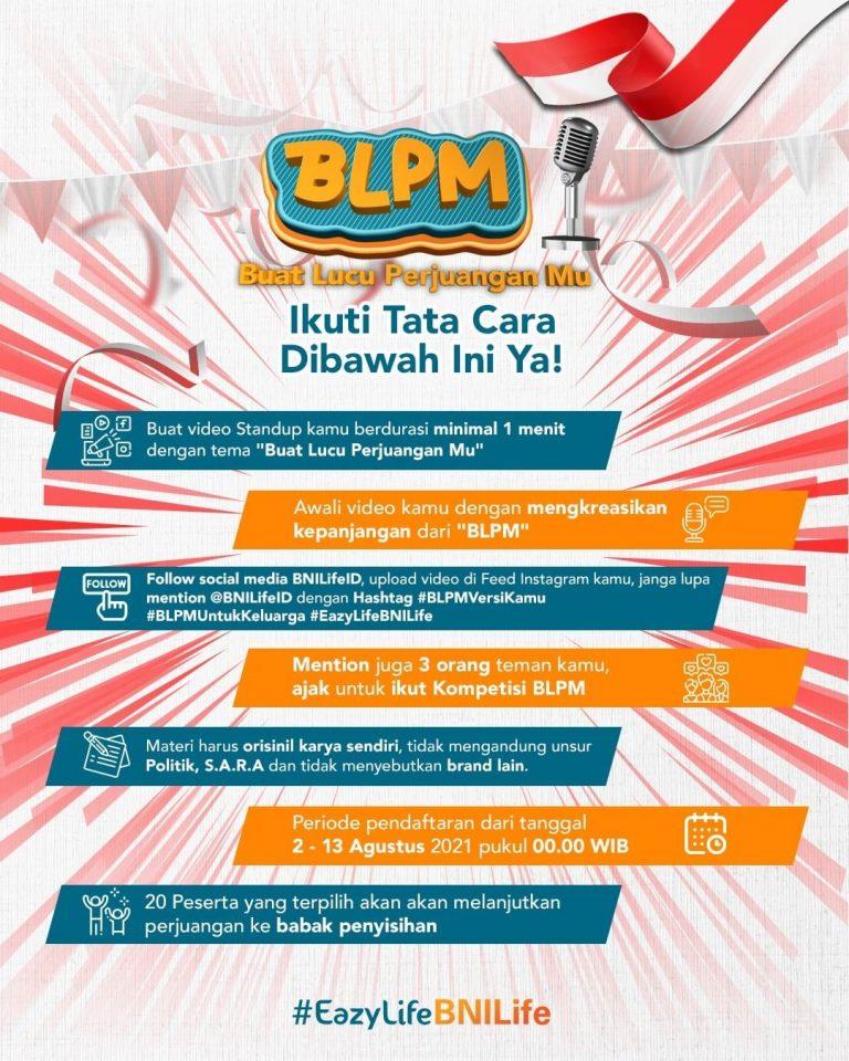 Lomba Video Standup Comedy BNI Life Berhadiah Total 10 Juta Rupiah