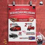 Promo Cincau Cap Panda Karton Berhadiah Toyota Agya, Vespa, HP, dll
