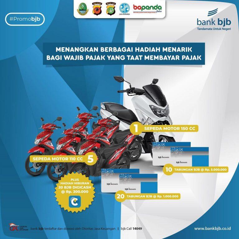 Promo Pajak Kendaraan Jawa Barat Berhadiah Motor & Tabungan Bjb