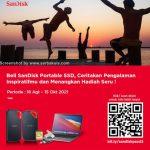 Promo Portable SSD SanDisk Berhadiah Apple Macbook Pro & Produk