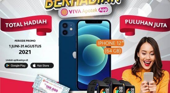 Promo Undian Belanja Viva Apotek App Berhadiah iPhone 12, Mi Watch, dll