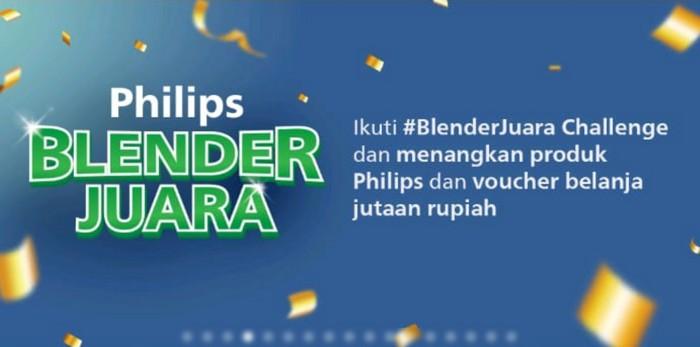 TikTok Challenge Blender Juara Berhadiah Produk Philips & Voucher