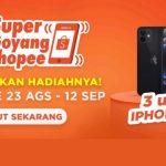 TikTok Challenge Super Goyang Shopee Hadiah 3 unit iPhone 12