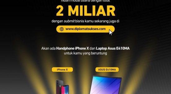 Giveaway Lomba Ide Bisnis Berhadiah iPhone X dan Laptop ASUS E410MA