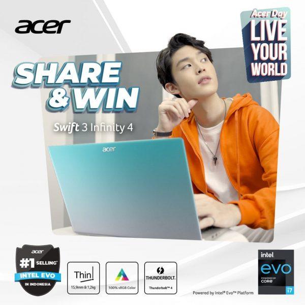 Giveaway Share & Win Berhadiah Laptop Acer Swift 3 Infinity 4 Gratis