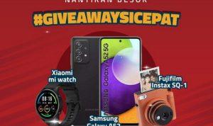 Giveaway Sicepat Berhadiah Fujifilm Instax SQ-1, Samsung A52 & Mi Watch
