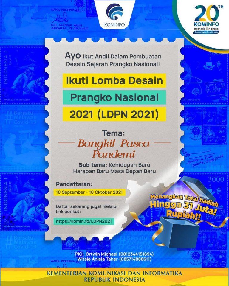 Lomba Desain Prangko Nasional 2021 Berhadiah Total 31 Juta Rupiah