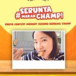 Lomba Foto Serunya Makan Champ Berhadiah Peralatan Masak & Gopay