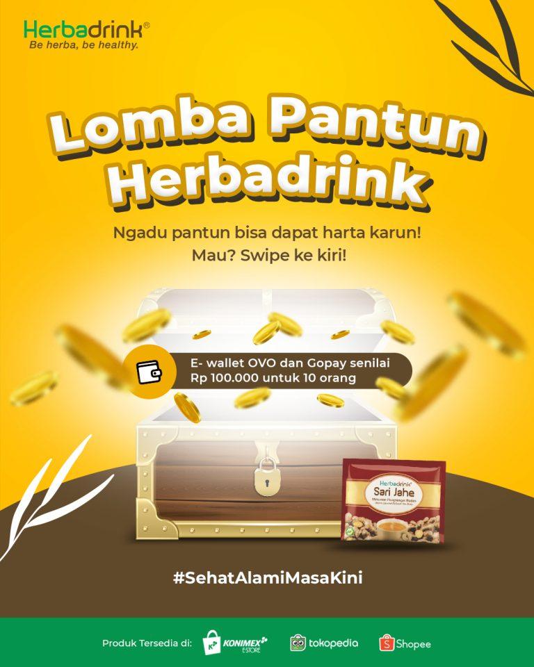 Lomba Pantun Herbadrink Berhadiah Saldo E-Wallet Total 1 Juta Rupiah