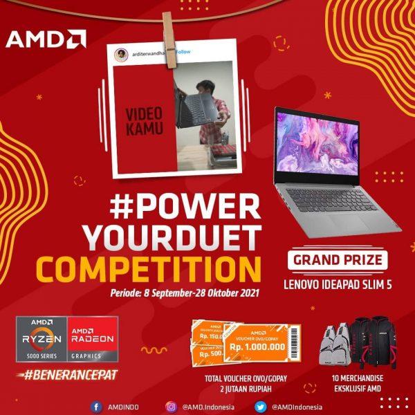 Lomba Video Power Your Duet Berhadiah Laptop Lenovo Ideapad Slim 5