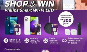Promo Philips Smart Wi-Fi LED Berhadiah iPhone 12, Samsung A52, dll