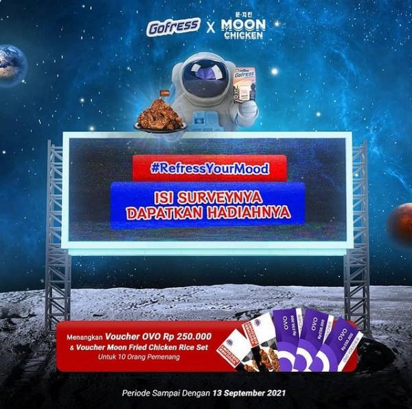 Survei Online Gofress x Moon Chicken Berhadiah OVO & Voucher Makan
