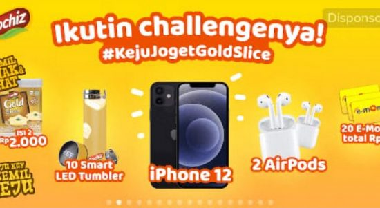 TikTok Challenge Keju Joget Gold Slice Berhadiah iPhone 12, Airpods, dll