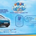 Undian BRITAMA FSTVL 2021 Grand Prize 8 Unit Mobil Listrik Hyundai Kona