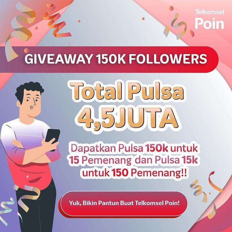Giveaway Pantun 150K Telkomsel Poin Berhadiah Pulsa Jutaan Rupiah