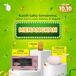 Giveaway Segari 10.10 Berhadiah Emas, Mito Oven Mini dan Pan Wok