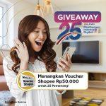 Giveaway Umur XL Axiata Berhadiah Voucher Shopee Untuk 25 Pemenang