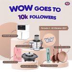 Giveaway WOW Goes To 10K Follower Berhadiah Air Fryer & Alat Dapur