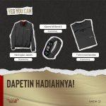 Hadiah - Giveaway Ubah Cara Main Berhadiah Xiaomi Mi Band 6, Jaket Harrington, dll