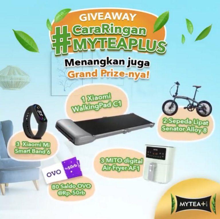 Lomba Cara Ringan MyTea Plus Berhadiah WalkingPad C1, Sepeda Lipat, dll